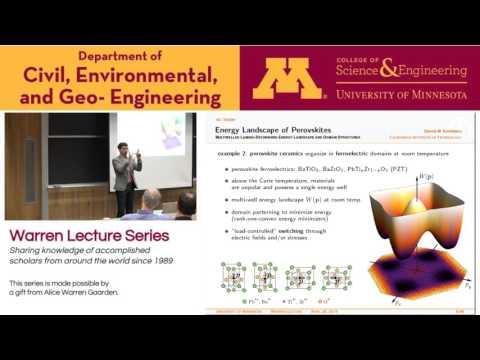 Warren Lecture, April 29 2016, Dennis M. Kochmann, California Institute of Technology
