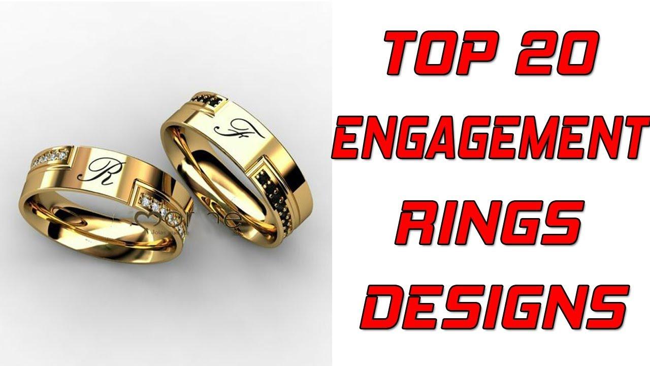 635943babb9855 TOP 20 GOLD ENGAGEMENT RING DESIGNS FOR MEN + Gold Wedding Rings for Men ||  VR CHANNEL
