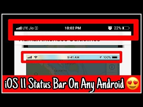 Get iOS 11 Status Bar On Any Android Smartphone 😍 | QuickUpdate | FSBI  Setup