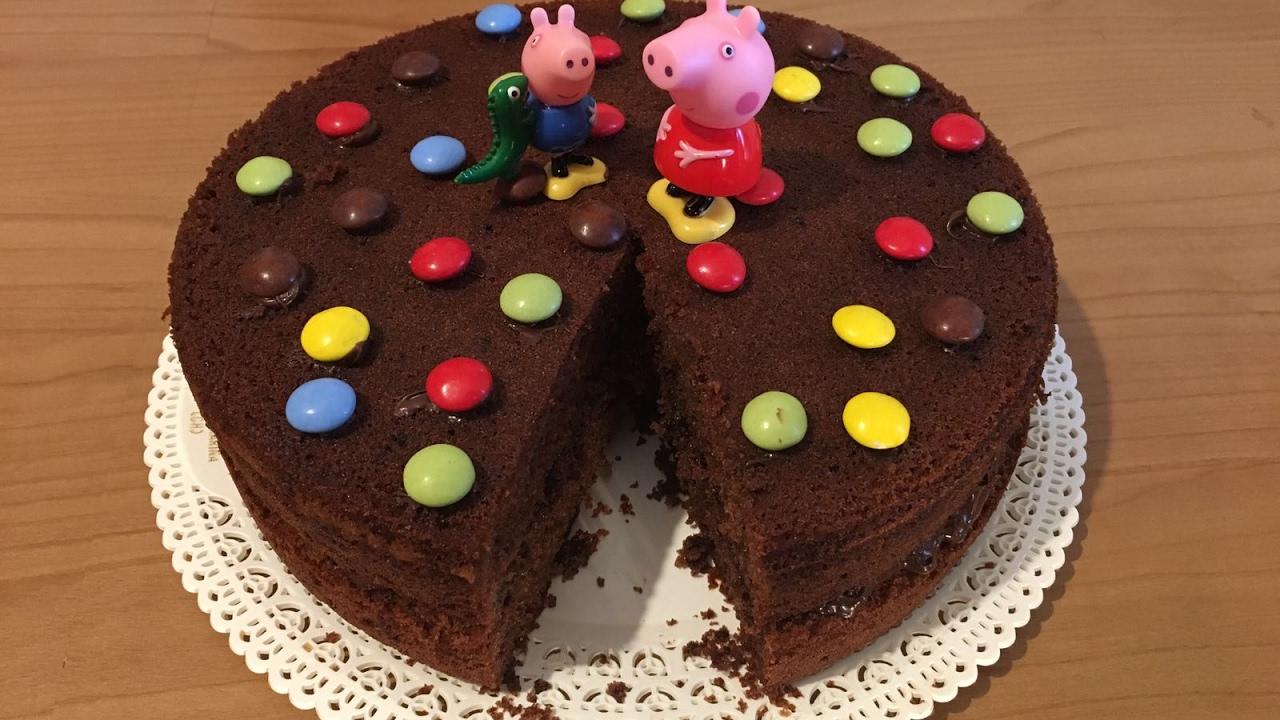La Cucina Di Mammina Torta Al Cioccolato Di Peppa Pig Youtube