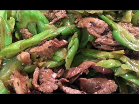 Stir Fry Bitter Melon with Beef in Black Bean Sauce 豆豉牛肉炒苦瓜