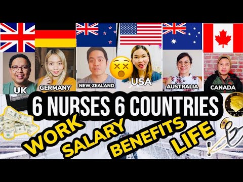FILIPINO NURSES FROM 6 BEST COUNTRIES Talks About WORK, SALARY, LIFE, BENEFITS In US CANADA UK NZ AU