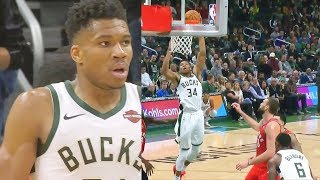 Giannis Takes His Anger Out On Entire Raptors Without Kawhi Leonard To Help Them! Raptors vs Bucks