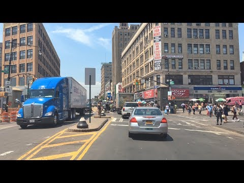 Driving Downtown - South Bronx - Bronx New York City NY USA