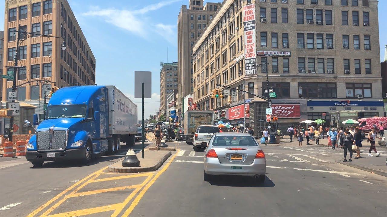 Driving Downtown - South Bronx 4K - USA
