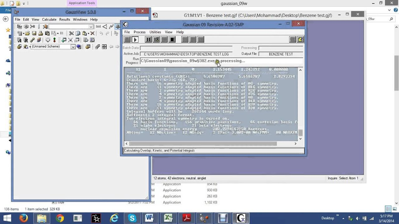 gaussian 09w software