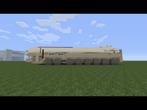 Minecraft Vehicle Tutorial Lets Build Intercontinental ballistic missile (MAZ-7912/MAZ-7917)