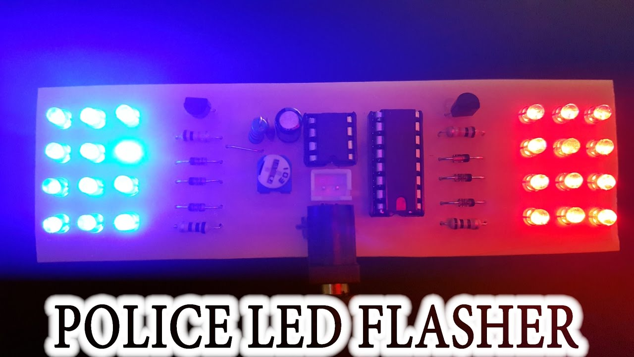 Tutorial How To Make Police Led Flasher Youtube Strobe Schematic