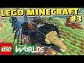LEGO Worlds Gameplay #3 - EPIC Town Destruction, Drilling Through EVERYTHING!! (Lego Minecraft)