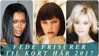 Fede frisurer til kort hår 2017