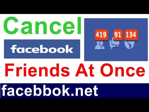 how to cancel all sent friend request on facebook at once