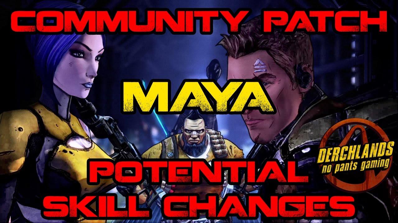 Borderlands 2 Community Patch Maya Potential Skill Changes ... Borderlands 2 Community Patch
