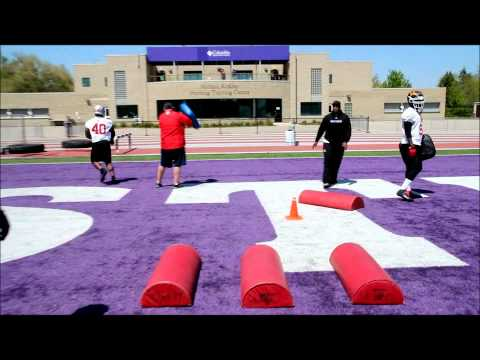 DL Drill with Coach Ronald Hilaire of the Montréal Carabins at East-West Bowl 2012