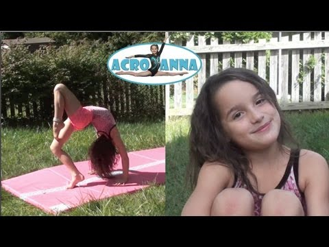 My Made Up Routine | Annie the Gymnast | Acroanna