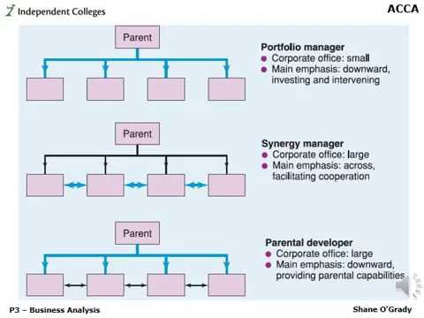 ACCA P3 - Corporate Rationales for Adding Value - Dec 2008 Q2a