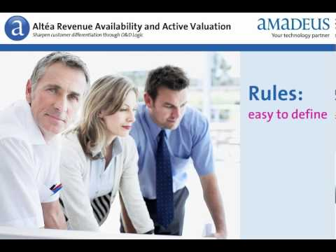 Amadeus Altéa Revenue Availability with Active Valuation
