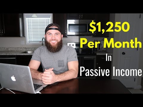 Passive Income: How I Make $1,250 A Month (5 Ways)