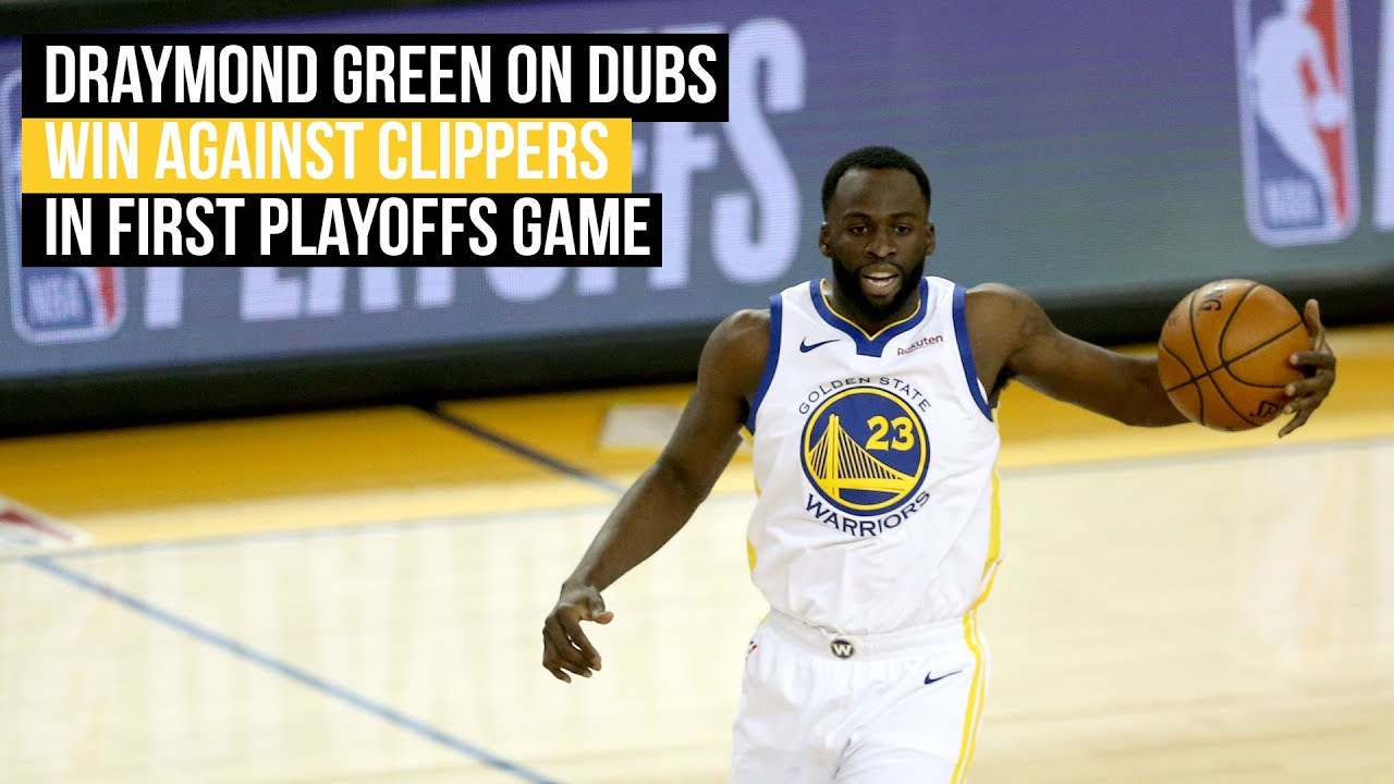 Warriors Draymond Green on first playoffs win against Clippers