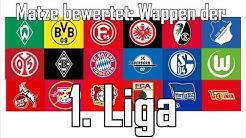 Matze bewertet - Vereinswappen der 1. Liga