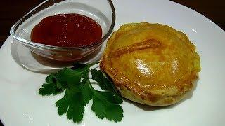 Мини-пироги с картошкой и курицей. Простой рецепт вкусных пирожков в духовке.