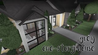 roblox | bloxburg speed build | grey one - story house | 87k