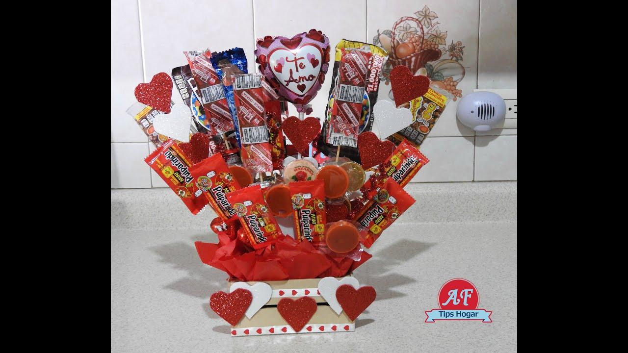 Arreglo de dulces para san valentin youtube - Como hacer adornos de san valentin ...
