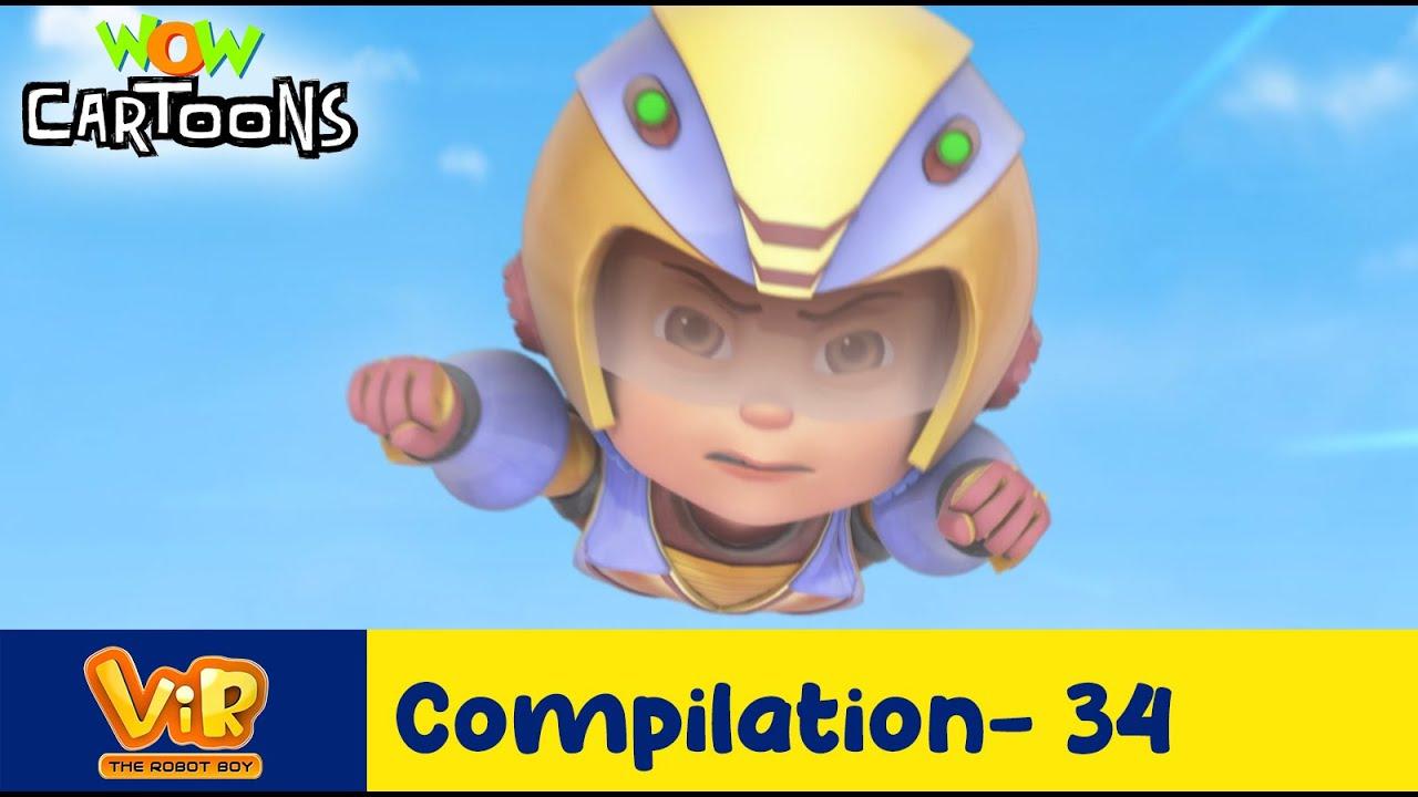 Vir the robot boy | Action Cartoon Video | New Compilation - 34| Kids Cartoons | Wow Cartoons