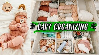 HOW I ORGANIZE BABY CLOTHES! + putting away newborn size :(