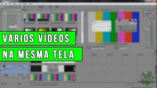 Tutorial Sony Vegas - Como colocar vários videos na mesma tela! (Picture in Picture)