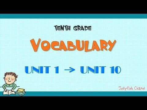 Từ vựng tiếng Anh lớp 10 – Chương trình mới – Trọn bộ 10 bài