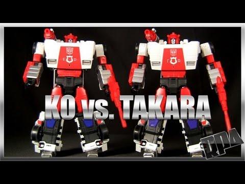 KO MP-14 ALERT vs. Takara MP-14 RED ALERT Transformers Masterpiece robot figure review