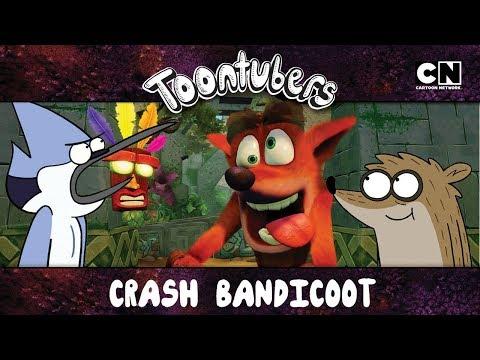 Crash me está volviendo hostil | Crash Bandicoot | ToonTubers | Cartoon Network