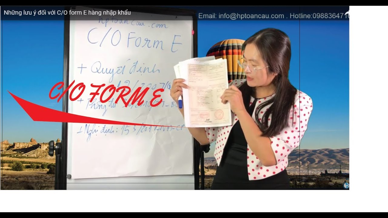 Những lưu ý đối với C/O form E hàng nhập khẩu