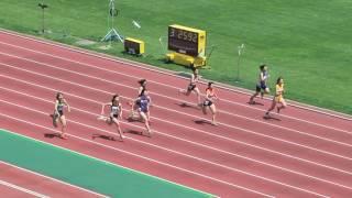 H29 千葉県記録会 女子100m 25組 鈴木茜 動画 27