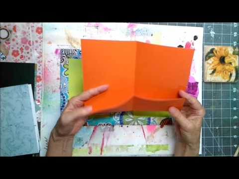 Make a Journal Cover From a Box- Simple folded pocket signatures