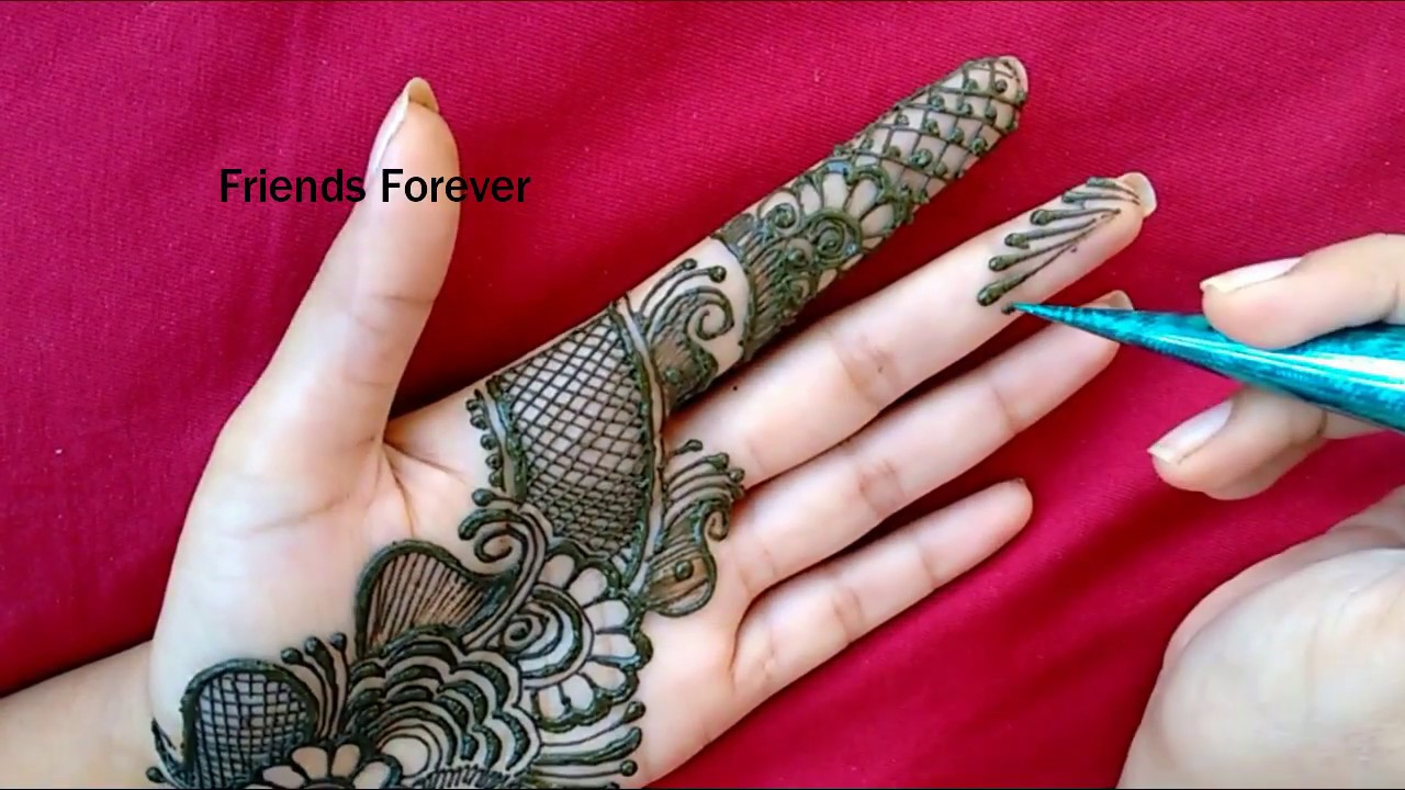 Latest Stylish Mehndi Design For Hand Beautiful Arabic Henna Design 2019