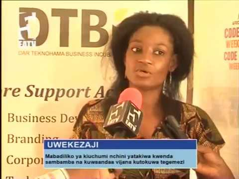 (In Swahili) AFRICA CODE WEEK 2017 on EATV: Training Trainers in Tanzania
