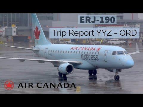 (HD) [TRIP REPORT] AIR CANADA ERJ-190   ECONOMY CLASS!!   TORONTO - CHICAGO    AC 509