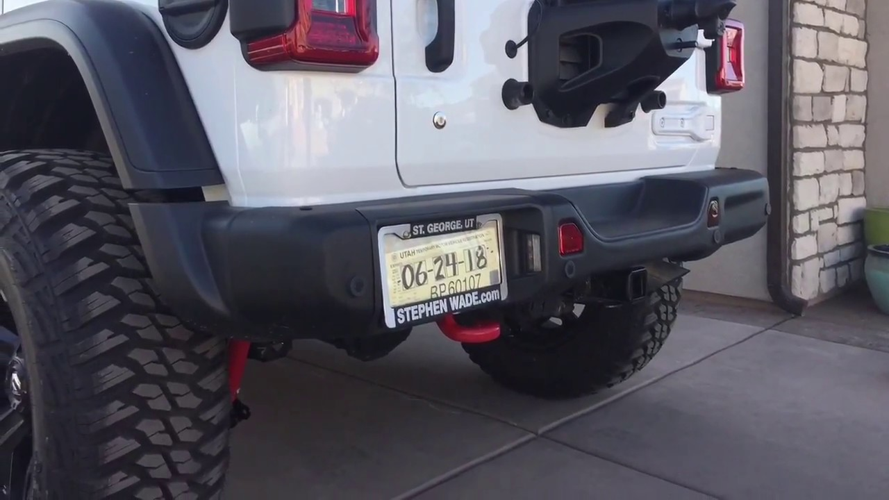 Jeep Wrangler Jk Front Bumper >> Jeep Wrangler JL rear bumper removal: How to remove the rear bumper on a jeep wrangler - YouTube