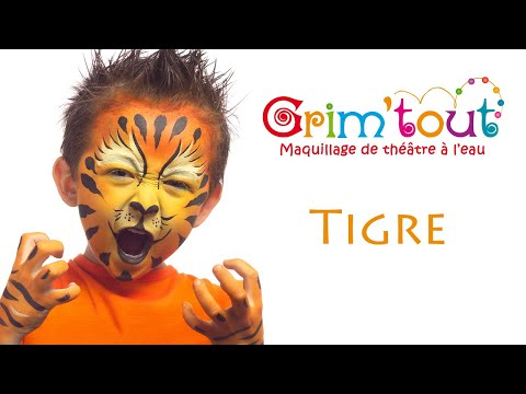 mod le maquillage enfant tigre youtube. Black Bedroom Furniture Sets. Home Design Ideas