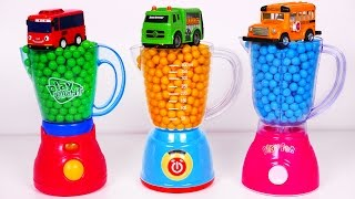 Blender Kitchen Toy Appliance and Candy Surprise Toys!! Garbage Truck and School Bus Vehicles for Ki