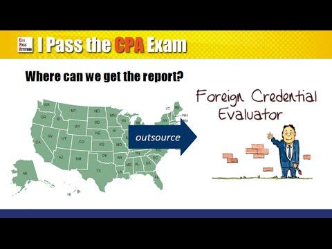 Foreign Credential Evaluation for CPA Exam