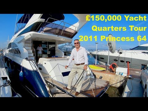 £150,000 (now £130K) Yacht Quarters Tour : 2011 Princess 64