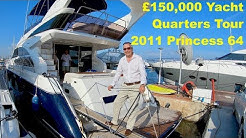 £150,000 Yacht Quarters Tour : 2011 Princess 64