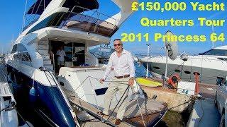 £150,000 Yacht Quarters Tour : 2011 Princess 64