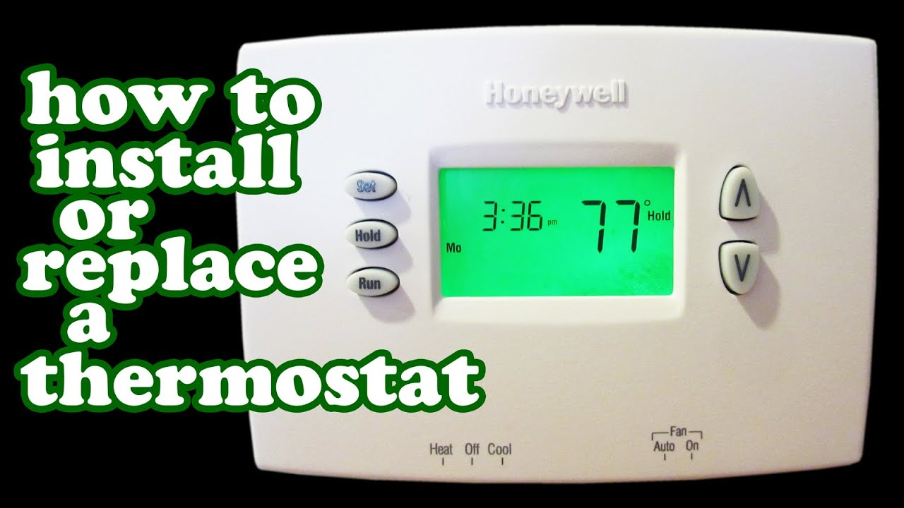honeywell thermostat wiring wire programmable thermostats heater rh youtube com install a wall thermostat wiring a wall mounted thermostat