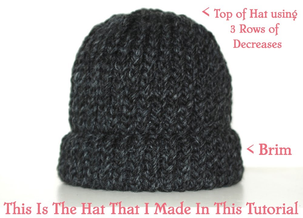 How To Loom Knit A Chunky Beanie Hat Pt. 1 - YouTube