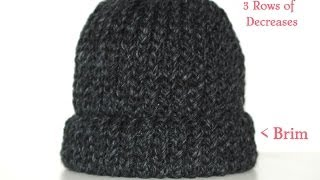 How To Loom Knit A Chunky Beanie Hat  Pt. 1
