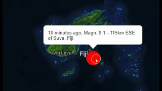 Major M7.8 Earthquake Hits Fiji Region