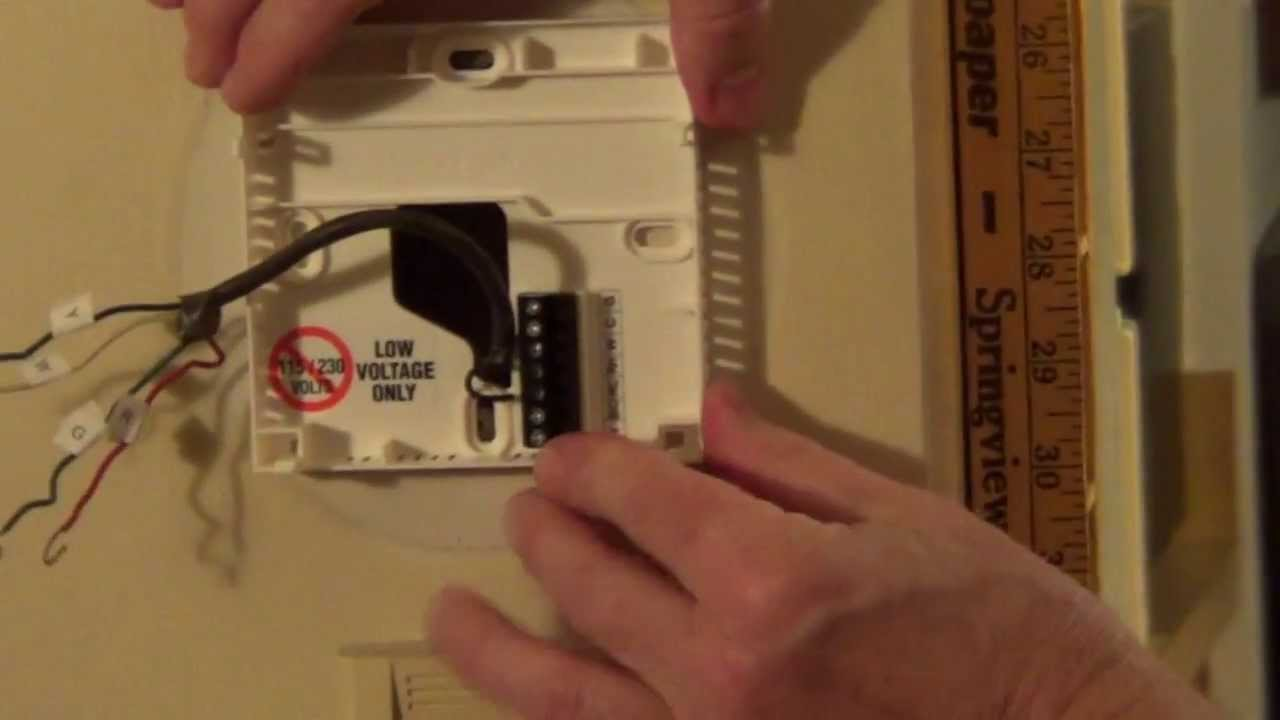 hight resolution of thermostat wiring